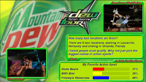 LIVE Text Mountain Dew Campaign Image