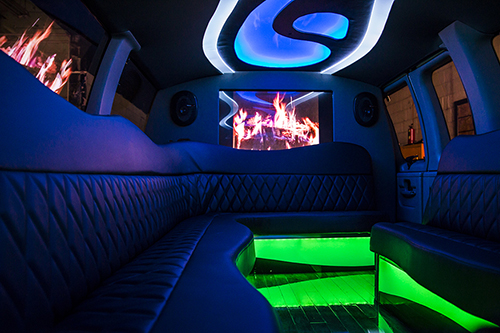 Inside of Limousine
